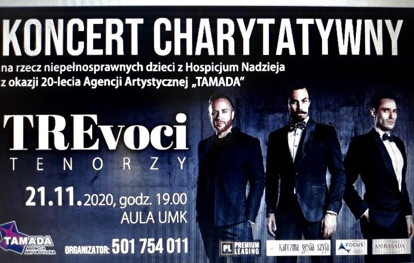 Koncert charytatywny Tre Voci