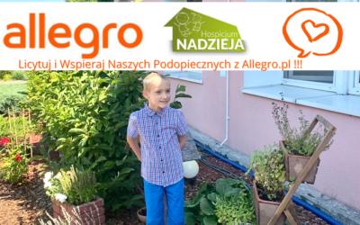 Wsparcie dla Podopiecznych naszej Fundacji poprzez platformę Allegro.pl