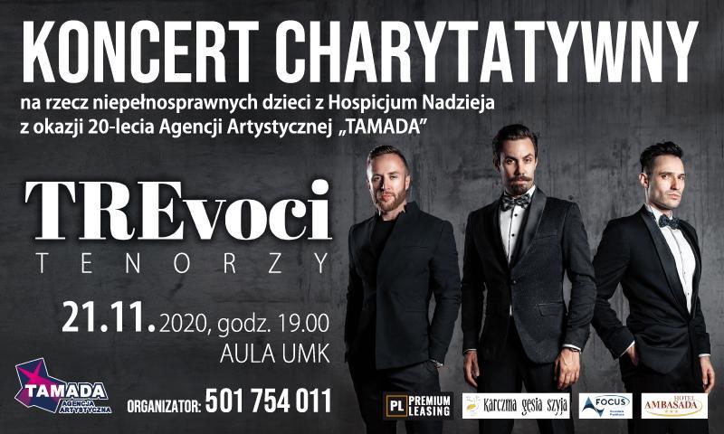 Koncert Charytatywny TRE VOCI (21.11, godz. 19)